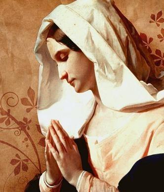 Saint praying